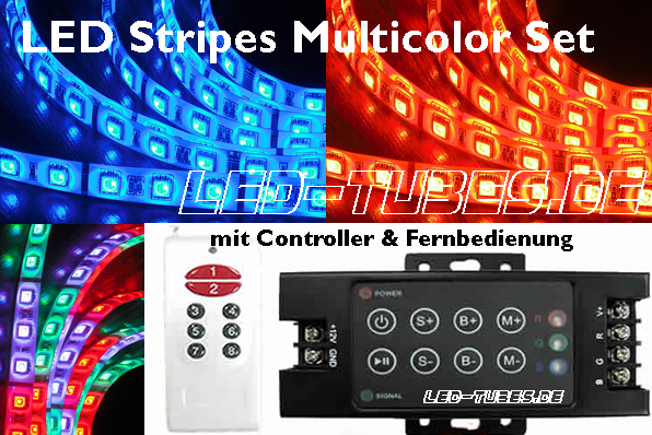 LED Stripe Multicolor mit LED Controller & Fernbedienung